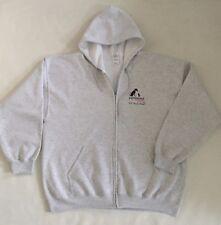 Pampered Pets Women XXL Heavy Blend Full Zippered Hoodie Sweatshirt, Light Gray