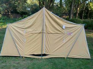 1960s Coleman Canvas Vintage Vagabond Cabin Tent 13 x 8 EXCELLENT