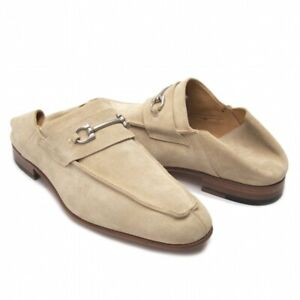 DI MELLA Gancini Suede Loafer Size US About 8(K-69073)