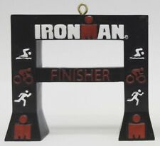 Ironman Finish Line Triathlon Christmas/Holiday Resin Ornament *New In Box*