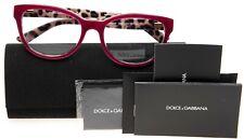 NEW D&G Dolce&Gabbana DG 3209 2882 TOP OPAL BORDEAUX EYEGLASSES 53-18-140 w/Case