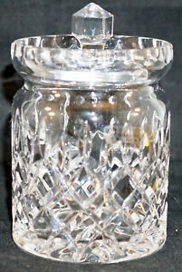 Irish Rose Crystal Jam Jelly Jar with Lid Hand Made in the Czech Republic