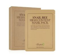 5 X BENTON Snail Bee High Content Facial Mask 20g (5 Sheets)  *UK Seller*