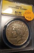 1934 Certified Peace Dollar, AU50, C511