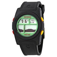 Nixon Rhythm Digital Dial Black Rubber Mens Mens Watch A385-1329