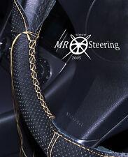 Para Mercedes W203 Crema Cubierta del Volante Cuero Perforado Doble Costura