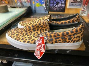 Vans Classic Slip On Digi Leopard Black White Size US 12 New VN-0XG8DHS