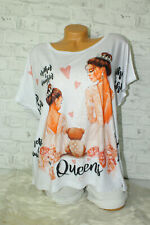 Italy New Collection T-Shirt weiß rosa Princess Girl Gr. 36 38 40 42 blogger