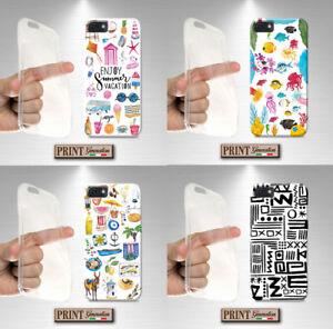 Cover Für , Samsung, Bedruckt, Meer Collage Sticker, Silikon, Weiche