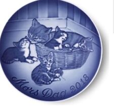 Bing & Grondahl 2018 Mother's Day Plate B&G Mother Cat with Kittens - New In Box