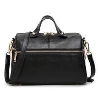 Genuine Leather Boston Women Satchel Handbag Tote Purse Shoulder Pillow Bag Hi-Q