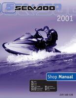 New Sea-Doo 2001, GS, GTS, GTI, GTX, RX, XP, RFI DI Shop Repair Manual 219100128