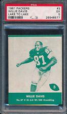 1961 Lake to Lake Packers #3 Willie Davis PSA 5 (FB01)