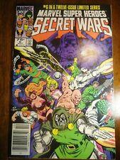 Marvel Super Heroes Secret Wars #6 Newsstand Galactus X-men Spider-man 1st Print