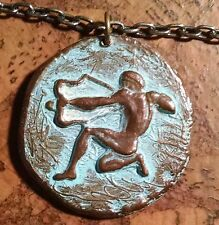 vintage Bronze Archer / Heracles Pendant Vgc