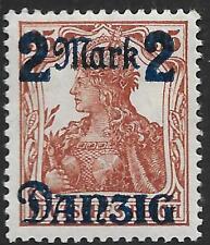 Danzig stamps 1920 MI 43III Ohne Unterdruck MLH VF