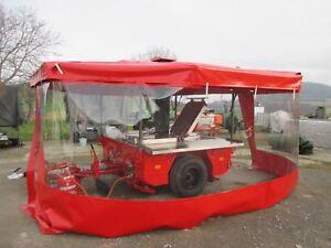 Seitenplane transparent für Gulaschkanone Feldküche Kärcher TFK 250 Rot