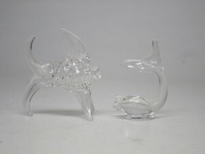 Lampworked Glass Fish Dolphin Sea Life Hand Blown Pair