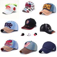 Mens Womens Colours Adjustable Baseball Cap Sports Visor Sun Golf ball Hat