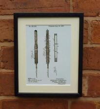 Patente de EE. UU. Dibujo Dentista Dental Mazo sonda herramienta montado impresión 1883 Regalo