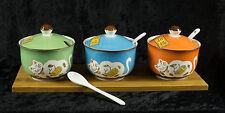 Chat Japonais Maneki Neko -lot de 3 Pots Sauce en Porcelaine  Ø 10 cm - 384