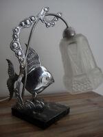 ✨ Rarissime Lampe Art Nouveau/Art Déco ✨avec tulipe HENRI MOUYNET ♥️