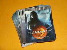 joss Whedons SERENITY Base Set of 72 Premium Trading Cards Cult TV/Film FIREFLY