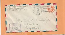 WW II  U.S MILITARY COVER  APO 637 CENSORED JAN 1944 NY TO PA