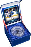 Connor McDavid Edmonton Oilers NHL Debut Crystal Puck w/ Ice From NHL Debut