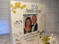 50TH WEDDING ANNIVERSARY GIFT 50TH GOLDEN WEDDING PHOTO FRAME PLAQUE PRESENT NEW