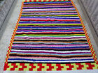 Moroccan Handmade Wool Carpet Beni Ourain Berber Rug Azilal Vintage Rug