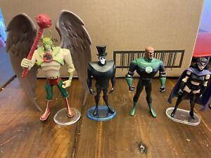 DC Mixed Figure lot JLA, Hawkman, Huntress, Shade, Green Lantern