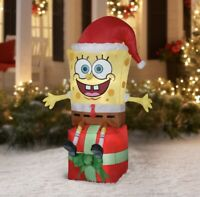 Nickelodeon 5` Spongebob LED Christmas Inflatable by Gemmy Industries
