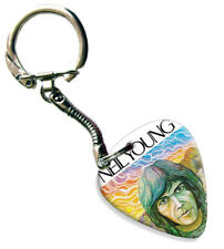 More details for neil young guitar plectrum keychain