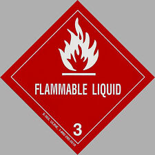 "4"" x 4"" FLAMMABLE LIQUID Decal - Hazard Sticker Warning Label DOT OSHA Man Cave"