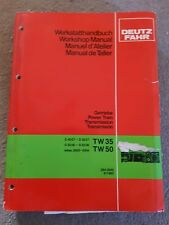 DEUTZ FAHR D4007-6207 D3006-6206 TRACTOR TRANSMISSION SERVICE MANUAL