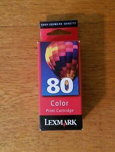 NEW Lexmark #80 Color Ink Cartridge GENUINE