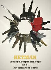 21 Keys Heavy Equipment / Construction Ignition Key Set JD Caterpillar Kobelco