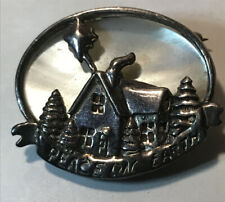 Vintage Sterling Jeziaine Silver MOP Brooch Christmas Jewelry
