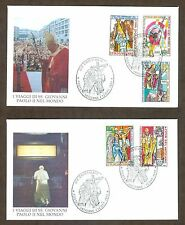 Vatican City Sc# 1118-22, Journeys of John Paul II in 1998 on 2 First Day Covers
