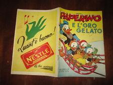 WALT DISNEY ALBO D'ORO 1°RISTAMPA N°107 MAG 1953 PAPERINO E L'ORO GELATO