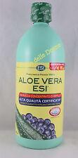Esi Aloe Vera 1000ml Jus de Pur Frais 100% + Concentré Myrtille Juice