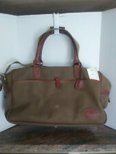 Vintage Mulberry Travel Bag Duffle/ Carry On/Weekender Covert Cloth & Leather