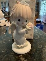 Precious Moments Figurine 109584, Happiness Divine, Flower Mark, 1987