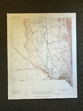 Vintage USGS Canutillo New Mexico Texas 1917 Topographic Map 1927