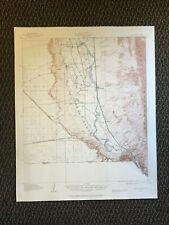 Vintage USGS Canutillo New Mexico Texas 1917 Topographic Map 1946