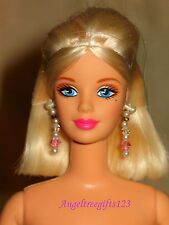 Nude Barbie Mackie blonde Medium bob hairstyle blue eyes perfect for ooak