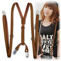 Adult Braces Suspenders Adjustable Boys Girls Clip-on Y Back Elastic Brace Hot