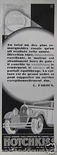 PUBLICITÉ 1930 HOTCHKISS DIRECTION SÛR SUSPENSION EXCELLENTE - ADVERTISING