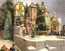 Christmas E1 Snow Village Display Platform Base Dept 56 Lemax St Nicholas Square